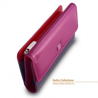 Разноцветный кожаный кошелек DuDu Bags