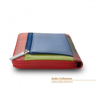 Цветное кожаное портмоне DuDu Bags