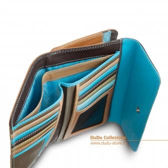 Цветной кожаный кошелек DuDu Bags